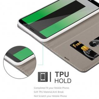 Cadorabo Hülle für Huawei MATE 10 LITE in HELL GRAU BRAUN - Handyhülle mit Magnetverschluss, Standfunktion und Kartenfach - Case Cover Schutzhülle Etui Tasche Book Klapp Style - Vorschau 2