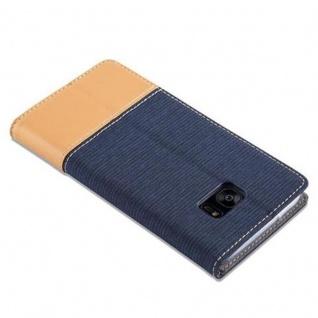 Cadorabo Hülle für Samsung Galaxy S7 EDGE in DUNKEL BLAU BRAUN - Handyhülle mit Magnetverschluss, Standfunktion und Kartenfach - Case Cover Schutzhülle Etui Tasche Book Klapp Style - Vorschau 5