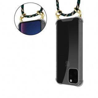 Cadorabo Handy Kette für Apple iPhone 11 PRO MAX (XI PRO MAX) in CAMOUFLAGE - Silikon Necklace Umhänge Hülle mit Gold Ringen, Kordel Band Schnur und abnehmbarem Etui - Schutzhülle - Vorschau 4
