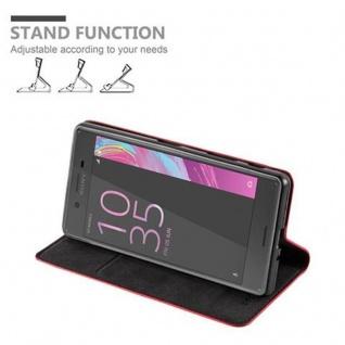 Cadorabo Hülle für Sony Xperia X in APFEL ROT Handyhülle mit Magnetverschluss, Standfunktion und Kartenfach Case Cover Schutzhülle Etui Tasche Book Klapp Style - Vorschau 5
