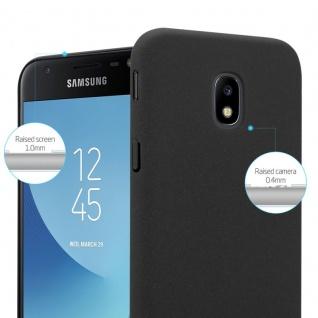 Cadorabo Hülle für Samsung Galaxy J3 2017 in FROSTY SCHWARZ - Hardcase Handyhülle aus Plastik gegen Kratzer und Stöße - Schutzhülle Bumper Ultra Slim Back Case Hard Cover - Vorschau 3