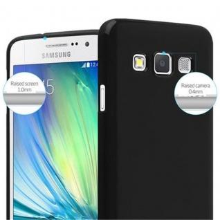 Cadorabo Hülle für Samsung Galaxy A3 2015 in JELLY SCHWARZ - Handyhülle aus flexiblem TPU Silikon - Silikonhülle Schutzhülle Ultra Slim Soft Back Cover Case Bumper - Vorschau 3