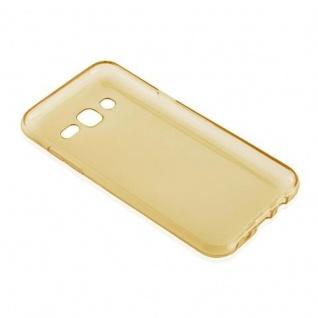 Cadorabo Hülle für Samsung Galaxy J5 2015 in TRANSPARENT GOLD - Handyhülle aus flexiblem TPU Silikon - Silikonhülle Schutzhülle Ultra Slim Soft Back Cover Case Bumper - Vorschau 3