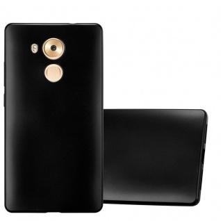 Cadorabo Hülle für Huawei MATE 8 in METALLIC SCHWARZ - Handyhülle aus flexiblem TPU Silikon - Silikonhülle Schutzhülle Ultra Slim Soft Back Cover Case Bumper