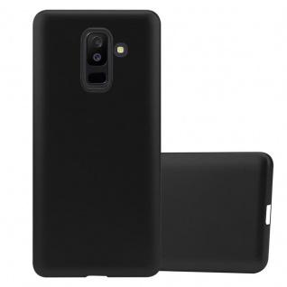 Cadorabo Hülle für Samsung Galaxy A6 PLUS 2018 in METALLIC SCHWARZ Handyhülle aus flexiblem TPU Silikon Silikonhülle Schutzhülle Ultra Slim Soft Back Cover Case Bumper