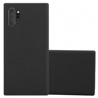 Cadorabo Hülle für Samsung Galaxy NOTE 10 PLUS in CANDY SCHWARZ - Handyhülle aus flexiblem TPU Silikon - Silikonhülle Schutzhülle Ultra Slim Soft Back Cover Case Bumper