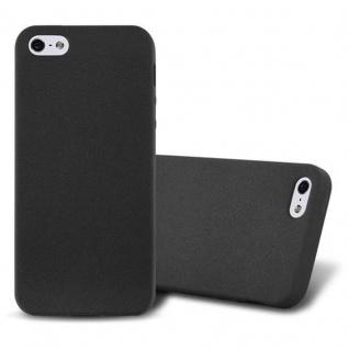 Cadorabo Hülle für Apple iPhone 5 / iPhone 5S / iPhone SE in FROST SCHWARZ - Handyhülle aus flexiblem TPU Silikon - Silikonhülle Schutzhülle Ultra Slim Soft Back Cover Case Bumper