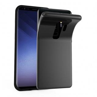 Cadorabo Hülle für Samsung Galaxy S9 PLUS in SCHWARZ - Handyhülle aus flexiblem TPU Silikon - Silikonhülle Schutzhülle Ultra Slim Soft Back Cover Case Bumper