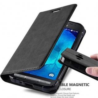 Cadorabo Hülle für Samsung Galaxy XCover 3 in NACHT SCHWARZ - Handyhülle mit Magnetverschluss, Standfunktion und Kartenfach - Case Cover Schutzhülle Etui Tasche Book Klapp Style