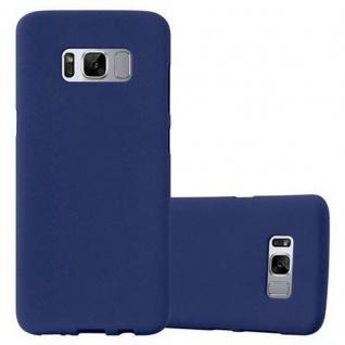 Cadorabo Hülle für Samsung Galaxy S8 in FROST DUNKEL BLAU - Handyhülle aus flexiblem TPU Silikon - Silikonhülle Schutzhülle Ultra Slim Soft Back Cover Case Bumper