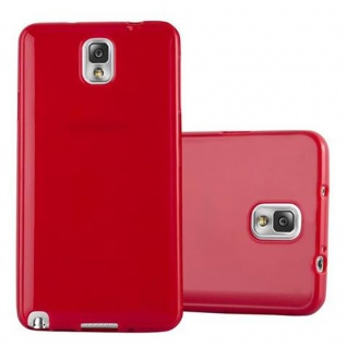 Cadorabo Hülle für Samsung Galaxy NOTE 3 in JELLY ROT - Handyhülle aus flexiblem TPU Silikon - Silikonhülle Schutzhülle Ultra Slim Soft Back Cover Case Bumper