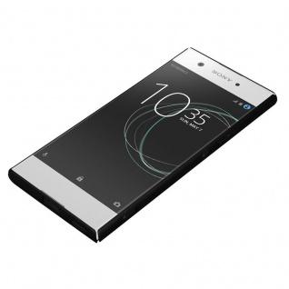 Cadorabo Hülle für Sony Xperia XA1 in METALL SCHWARZ - Hardcase Handyhülle aus Plastik gegen Kratzer und Stöße - Schutzhülle Bumper Ultra Slim Back Case Hard Cover - Vorschau 3