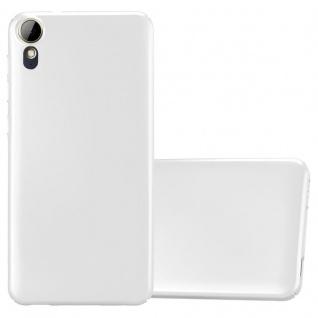 Cadorabo Hülle für HTC Desire 10 Lifestyle / Desire 825 in METALL SILBER - Hardcase Handyhülle aus Plastik gegen Kratzer und Stöße - Schutzhülle Bumper Ultra Slim Back Case Hard Cover