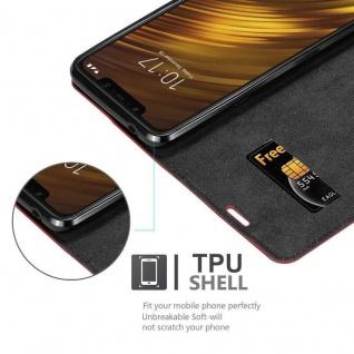 Cadorabo Hülle für Xiaomi Pocophone F1 in APFEL ROT Handyhülle mit Magnetverschluss, Standfunktion und Kartenfach Case Cover Schutzhülle Etui Tasche Book Klapp Style - Vorschau 2