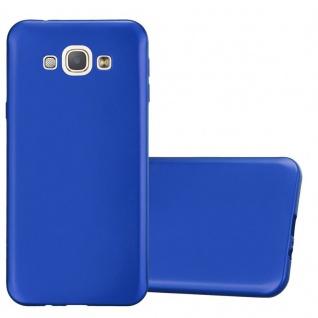 Cadorabo Hülle für Samsung Galaxy A8 2015 in METALLIC BLAU - Handyhülle aus flexiblem TPU Silikon - Silikonhülle Schutzhülle Ultra Slim Soft Back Cover Case Bumper