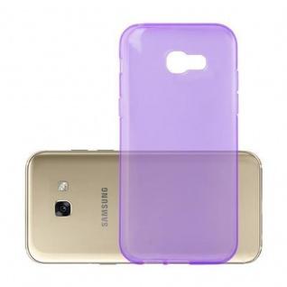 Cadorabo Hülle für Samsung Galaxy A3 2017 in TRANSPARENT LILA - Handyhülle aus flexiblem TPU Silikon - Silikonhülle Schutzhülle Ultra Slim Soft Back Cover Case Bumper