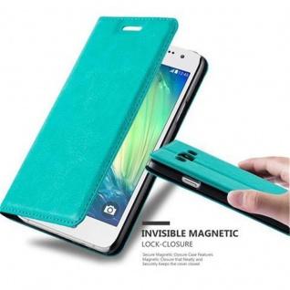 Cadorabo Hülle für Samsung Galaxy A3 2015 in PETROL TÜRKIS - Handyhülle mit Magnetverschluss, Standfunktion und Kartenfach - Case Cover Schutzhülle Etui Tasche Book Klapp Style