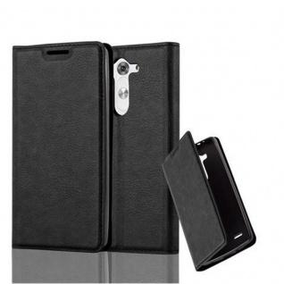 Cadorabo Hülle für LG G3 MINI / G3 S in NACHT SCHWARZ - Handyhülle mit Magnetverschluss, Standfunktion und Kartenfach - Case Cover Schutzhülle Etui Tasche Book Klapp Style