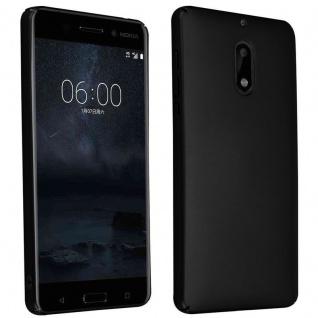 Cadorabo Hülle für Nokia 6 2017 in METALL SCHWARZ ? Hardcase Handyhülle aus Plastik gegen Kratzer und Stöße ? Schutzhülle Bumper Ultra Slim Back Case Hard Cover