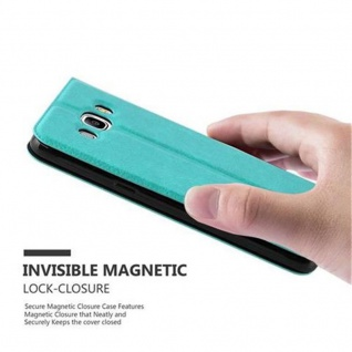 Cadorabo Hülle für Samsung Galaxy J5 2016 in MINT TÜRKIS ? Handyhülle mit Magnetverschluss, Standfunktion und 2 Sichtfenstern ? Case Cover Schutzhülle Etui Tasche Book Klapp Style - Vorschau 3