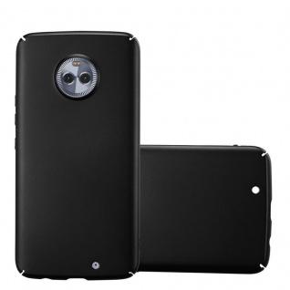 Cadorabo Hülle für Motorola MOTO X4 in METALL SCHWARZ - Hardcase Handyhülle aus Plastik gegen Kratzer und Stöße - Schutzhülle Bumper Ultra Slim Back Case Hard Cover