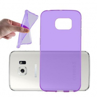 Cadorabo Hülle für Samsung Galaxy S6 - Hülle in TRANSPARENT LILA ? Handyhülle aus TPU Silikon im Ultra Slim 'AIR' Design - Ultra Slim Soft Backcover Case Bumper