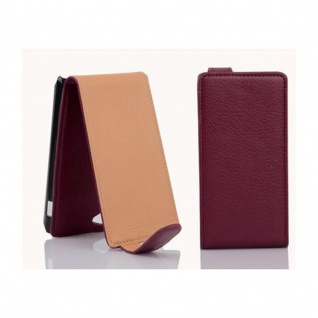 Cadorabo Hülle für Sony Xperia J in BORDEAUX LILA - Handyhülle im Flip Design aus strukturiertem Kunstleder - Case Cover Schutzhülle Etui Tasche Book Klapp Style - Vorschau 2