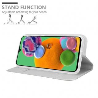Cadorabo Hülle für Samsung Galaxy A90 5G in CLASSY SILBER - Handyhülle mit Magnetverschluss, Standfunktion und Kartenfach - Case Cover Schutzhülle Etui Tasche Book Klapp Style - Vorschau 2