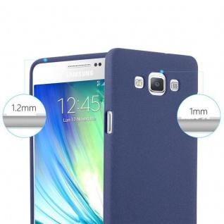 Cadorabo Hülle für Samsung Galaxy A3 2015 in FROST DUNKEL BLAU - Handyhülle aus flexiblem TPU Silikon - Silikonhülle Schutzhülle Ultra Slim Soft Back Cover Case Bumper - Vorschau 5