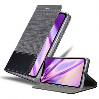 Cadorabo Hülle für Apple iPhone 11 (XI) in GRAU SCHWARZ - Handyhülle mit Magnetverschluss, Standfunktion und Kartenfach - Case Cover Schutzhülle Etui Tasche Book Klapp Style