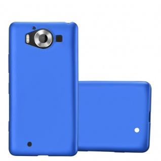 Cadorabo Hülle für Nokia Lumia 950 in METALLIC BLAU - Handyhülle aus flexiblem TPU Silikon - Silikonhülle Schutzhülle Ultra Slim Soft Back Cover Case Bumper