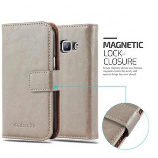 Cadorabo Hülle für Samsung Galaxy J1 2015 in CAPPUCCINO BRAUN ? Handyhülle mit Magnetverschluss, Standfunktion und Kartenfach ? Case Cover Schutzhülle Etui Tasche Book Klapp Style - Vorschau 2