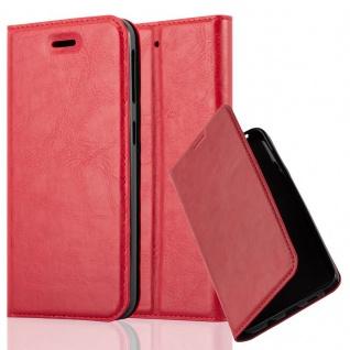 Cadorabo Hülle für HTC DESIRE 530 / 630 in APFEL ROT - Handyhülle mit Magnetverschluss, Standfunktion und Kartenfach - Case Cover Schutzhülle Etui Tasche Book Klapp Style