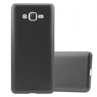 Cadorabo Hülle für Samsung Galaxy J7 2015 in METALLIC GRAU - Handyhülle aus flexiblem TPU Silikon - Silikonhülle Schutzhülle Ultra Slim Soft Back Cover Case Bumper
