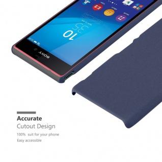 Cadorabo Hülle für Sony Xperia M4 AQUA in FROSTY BLAU - Hardcase Handyhülle aus Plastik gegen Kratzer und Stöße - Schutzhülle Bumper Ultra Slim Back Case Hard Cover - Vorschau 5