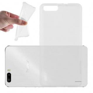 Cadorabo Hülle für Honor 6 PLUS in VOLL TRANSPARENT - Handyhülle aus flexiblem TPU Silikon - Silikonhülle Schutzhülle Ultra Slim Soft Back Cover Case Bumper