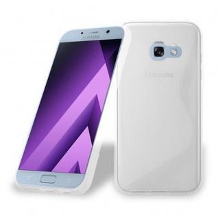 Cadorabo Hülle für Samsung Galaxy A3 2017 in HALB TRANSPARENT ? Handyhülle aus flexiblem TPU Silikon ? Silikonhülle Schutzhülle Ultra Slim Soft Back Cover Case Bumper