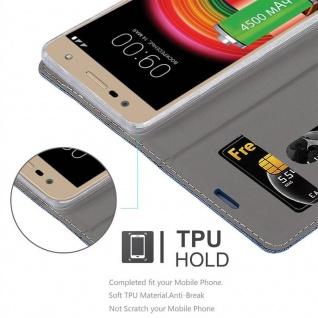 Cadorabo Hülle für LG X POWER 2 in DUNKEL BLAU SCHWARZ - Handyhülle mit Magnetverschluss, Standfunktion und Kartenfach - Case Cover Schutzhülle Etui Tasche Book Klapp Style - Vorschau 2