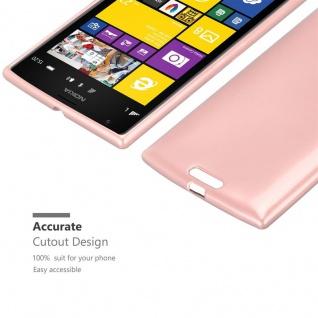 Cadorabo Hülle für Nokia Lumia 1520 in METALLIC ROSÉ GOLD - Handyhülle aus flexiblem TPU Silikon - Silikonhülle Schutzhülle Ultra Slim Soft Back Cover Case Bumper - Vorschau 5