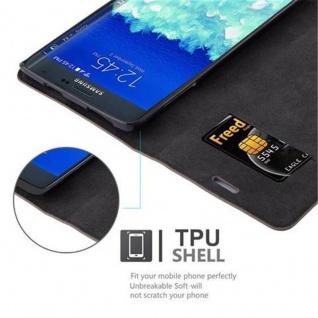 Cadorabo Hülle für Samsung Galaxy NOTE EDGE in KAFFEE BRAUN - Handyhülle mit Magnetverschluss, Standfunktion und Kartenfach - Case Cover Schutzhülle Etui Tasche Book Klapp Style - Vorschau 2