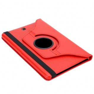 """"""" Cadorabo Tablet Hülle für Samsung Galaxy Tab S2 (8, 0"""" Zoll) SM-T715N / T719N in MOHN ROT ? Book Style Schutzhülle OHNE Auto Wake Up mit Standfunktion und Gummiband Verschluss"""" - Vorschau 5"""