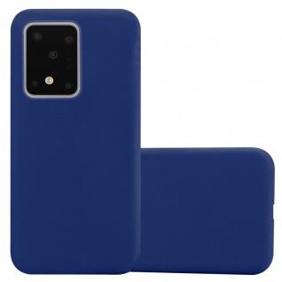 Cadorabo Hülle für Samsung Galaxy S20 ULTRA in CANDY DUNKEL BLAU Handyhülle aus flexiblem TPU Silikon Silikonhülle Schutzhülle Ultra Slim Soft Back Cover Case Bumper
