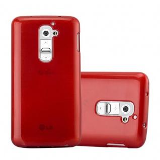 Cadorabo Hülle für LG G2 in ROT - Handyhülle aus flexiblem TPU Silikon - Silikonhülle Schutzhülle Ultra Slim Soft Back Cover Case Bumper