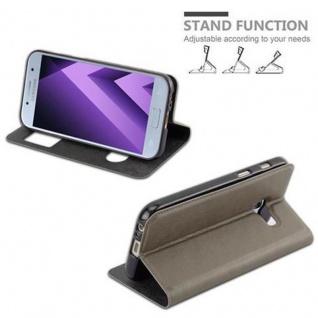Cadorabo Hülle für Samsung Galaxy A3 2017 in STEIN BRAUN - Handyhülle mit Magnetverschluss, Standfunktion und 2 Sichtfenstern - Case Cover Schutzhülle Etui Tasche Book Klapp Style - Vorschau 5