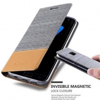 Cadorabo Hülle für Samsung Galaxy S7 EDGE in HELL GRAU BRAUN - Handyhülle mit Magnetverschluss, Standfunktion und Kartenfach - Case Cover Schutzhülle Etui Tasche Book Klapp Style