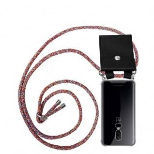 Cadorabo Handy Kette für OnePlus 6 in COLORFUL PARROT - Silikon Necklace Umhänge Hülle mit Silber Ringen, Kordel Band Schnur und abnehmbarem Etui - Schutzhülle