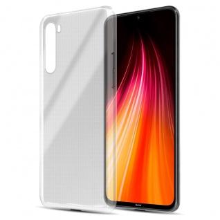 Cadorabo Hülle kompatibel mit Xiaomi Redmi Note 8 in VOLL TRANSPARENT Handyhülle aus flexiblem TPU Silikon Silikonhülle Schutzhülle Ultra Slim Soft Back Cover Case Bumper