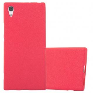 Cadorabo Hülle für Sony Xperia XA1 in FROST ROT - Handyhülle aus flexiblem TPU Silikon - Silikonhülle Schutzhülle Ultra Slim Soft Back Cover Case Bumper