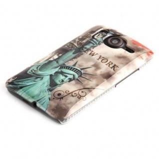 Cadorabo - Hard Cover Für Htc Desire Hd - Case Cover Schutzhülle Bumper Im Design: New York - Freiheitsstatue - Vorschau 2