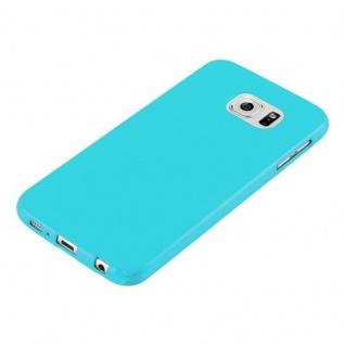 Cadorabo Hülle für Samsung Galaxy S6 in JELLY HELL BLAU ? Handyhülle aus flexiblem TPU Silikon ? Silikonhülle Schutzhülle Ultra Slim Soft Back Cover Case Bumper - Vorschau 4